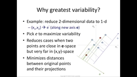 Thumbnail for entry Why we maximize variance in PCA