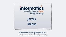 Thumbnail for entry JavaFX 7 - Menus
