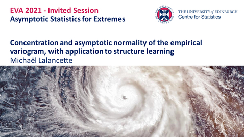 Thumbnail for entry Asymptotic Statistics for Extremes: Michaël Lalancette