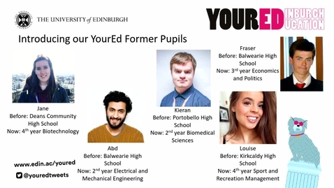 Thumbnail for entry YourEd: Q&A with Former Pupils