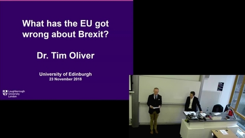 Thumbnail for entry 23 Nov 2018 — Tim Oliver (University of Loughborough)