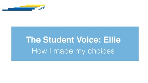 Thumbnail for entry LEAPS - The Student Voice: Ellie