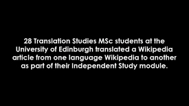 Thumbnail for entry Translation Studies MSc students on the Wikipedia Translation assignment (short excerpt)
