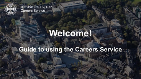 Thumbnail for entry Guide to the Careers Service