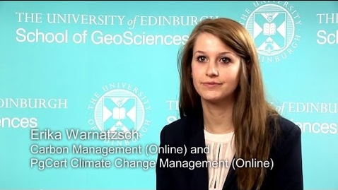 Thumbnail for entry Erika Warnatzsch -  MSc Carbon Management (online)