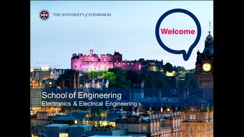 Thumbnail for entry Electrical  and  Electronic Engineering Discipline Welcome Talk