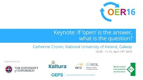 Thumbnail for entry Catherine Cronin: If 'open' is the answer, what is the question? [#OER16]