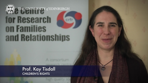 Thumbnail for entry Kay Tisdale - Children's Rights - Research In A Nutshell - School of Social and Political Science-19/05/2015