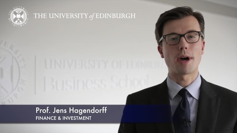 Thumbnail for entry Jens Hagendorff -Finance & Investment -Research In A Nutshell-Business School-24/01/2013