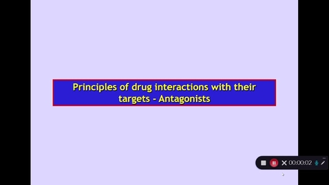 Thumbnail for entry BMS2: How Drugs Act. Part 3 Dr Phil Larkman
