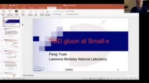 Thumbnail for entry REF2020: Feng Yuan- Small-x TMDs an overview