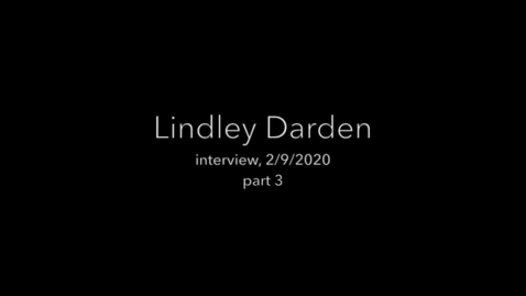 Thumbnail for entry Darden interview part 3