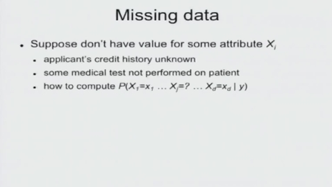 Thumbnail for entry Missing Values in Naive Bayes