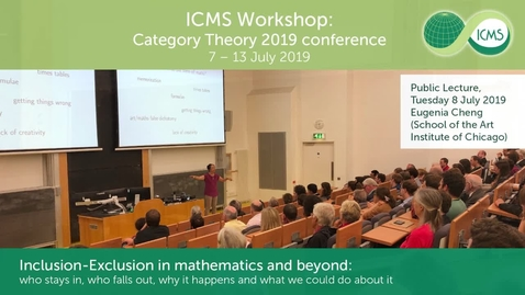 Thumbnail for entry Category Theory July 2019 Eugenia Cheng Public Lecture