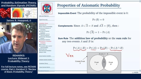 Thumbnail for entry Topic 14: Axiomatic Definition of Probability (PETARS, Chapter 3)