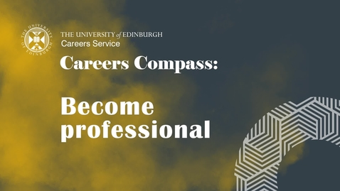 Thumbnail for entry Careers Compass: Become Professional