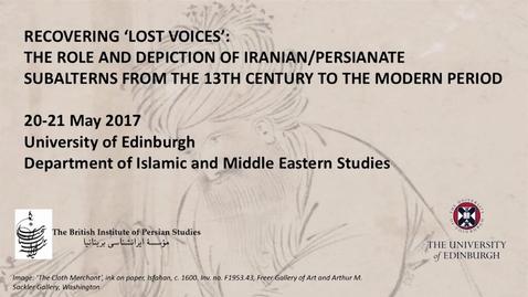 Thumbnail for entry Dr Alberto Tiburcio - 'An Armenian Convert's Autobiographical Confession:'Alī Akbar Armanī's I'tirāf-nāmah'