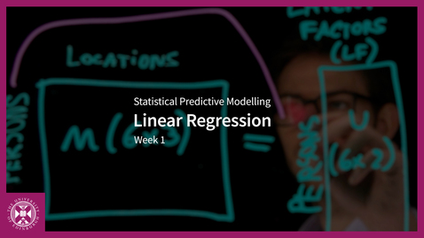 Thumbnail for entry Linear Regression