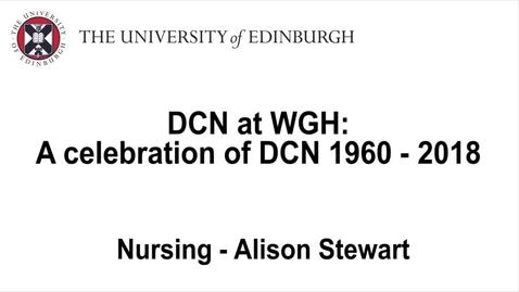 Thumbnail for entry Celebrating DCN at WGH - Alison Stewart, nursing