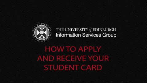 Thumbnail for entry (UG and PG) How-to apply and receive your student card