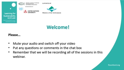 Thumbnail for entry RCE Global Webinar 04 Feb 2021 - Part One - Welcome from RCE Scotland and the Global RCE Service Centre