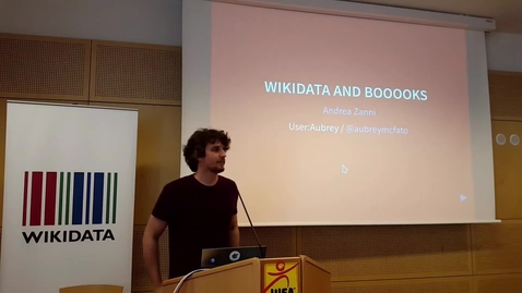 Thumbnail for entry Wikidata and Books - Andrea Zanni at WikiCite 2017