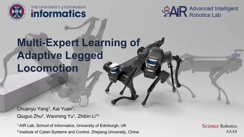 Thumbnail for entry Teaching a Robot Dog New Tricks with Dr. Alex Li