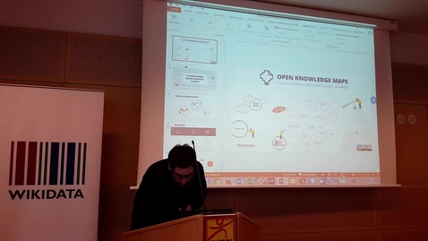 Thumbnail for entry Open Knowledge Maps for the Wikiverse - Peter Kraker at WikiCite 2017