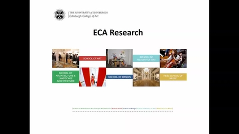 Thumbnail for entry LOW AUDIO: Patricia Allmer - ECA Research update