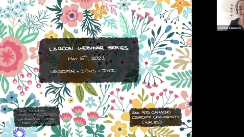 Thumbnail for entry LAGOON: Leicester Algebra and Geometry Open ONline: Ana Ros Camacho (Cardiff)