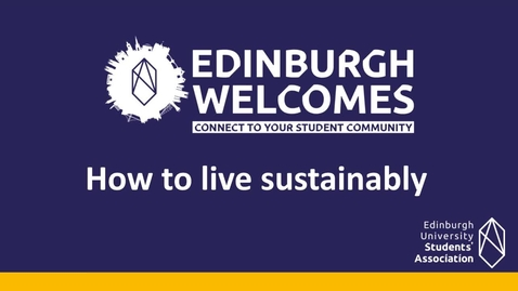Thumbnail for entry How-to live sustainably