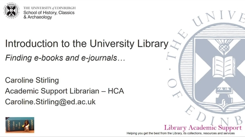 Thumbnail for entry Accessing the University Library resources - HCA (online)