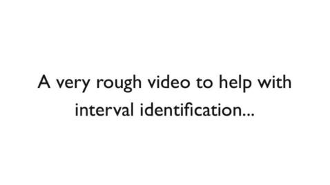 Thumbnail for entry Interval Identification Demonstration