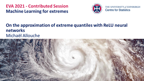 Thumbnail for entry Machine Learning for Extremes: Michaël Allouche