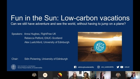 Thumbnail for entry Fun in the sun: low carbon vacations Webinar - 29 April 2021