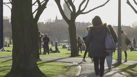 Thumbnail for entry Students in the Meadows, Edinburgh