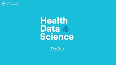 Thumbnail for entry Tidying Data
