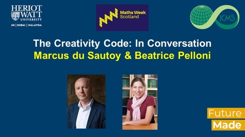 Thumbnail for entry The Creativity Code:  In Conversation with Marcus du Sautoy