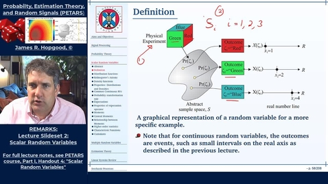 Thumbnail for entry Topic 18:  Introduction to Random Variables and Cummulative Distribution Functions (PETARS, Chapter 4)