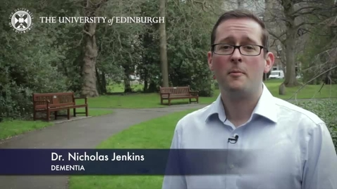 Thumbnail for entry Nicholas Jenkins -Dementia - Research In A Nutshell- School of Health in Social Science-07/04/2014