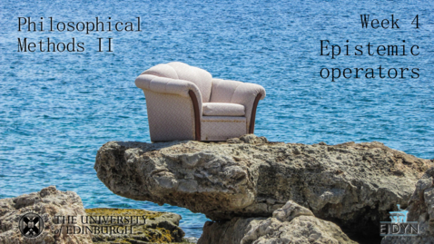 Thumbnail for entry EEM-APM-2.2 - Methodological Issues in Epistemology 1 (Anders Schoubye)