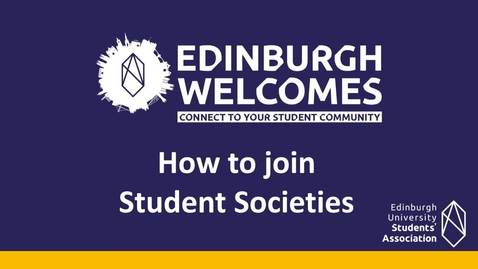 Thumbnail for entry (UG/PG) How-to get involved in societies