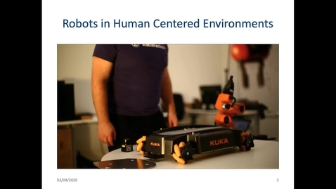 Thumbnail for entry Robots in Human Centred Environments  - Dr. Subramanian Ramamoorthy (Informatics/Robotics)