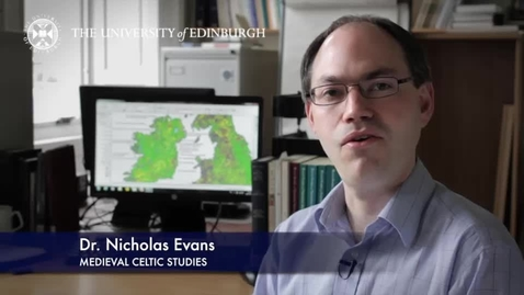 Thumbnail for entry Nicholas Evans-Medieval Celtic Studies-Research In A Nutshell-School of Literatures, Languages and Cultures-08/04/2014