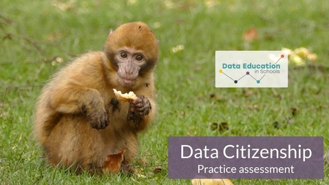 Thumbnail for entry Data Citizenship Level 4-5 Zoo activity Part 2b