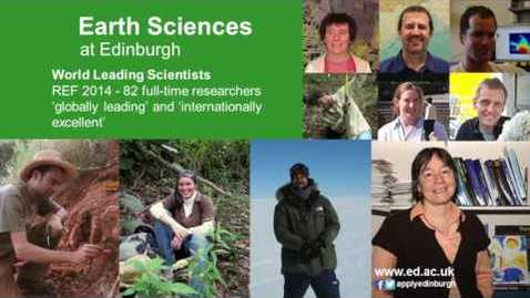 Thumbnail for entry Earth Sciences at Edinburgh Open Day Talk (unclipped)