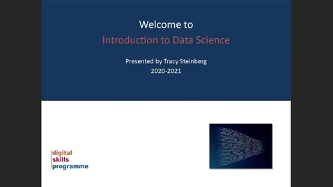 Thumbnail for entry Introduction to Data Science Pilot Webinar