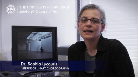 Thumbnail for entry Sophia Lycouris -Interdisciplinary Choregraphy- Research In A Nutshell-Edinburgh College of Art-15/11/2012