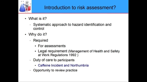 Thumbnail for entry Risk assessment Intro