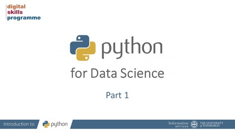 Thumbnail for entry Python for Data Science Part 1